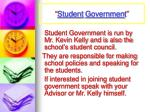 student governmen t