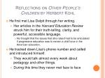 reflections on other people s children by herbert kohl3