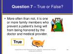question 7 true or false