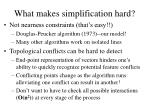 what makes simplification hard