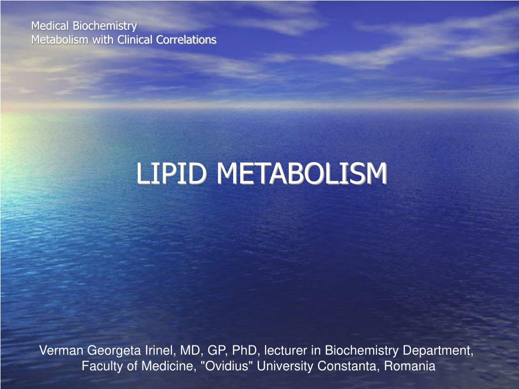 medical biochemistry metabolism with clinical correlations l.