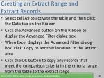 creating an extract range and extract records67