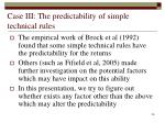 case iii the predictability of simple technical rules