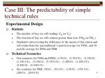case iii the predictability of simple technical rules31