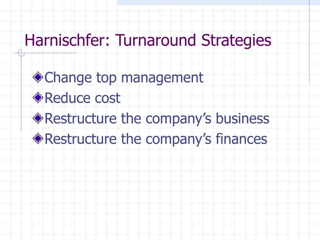 harnischfer turnaround strategies l.