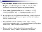 major elements of security requires a combination of people and technology