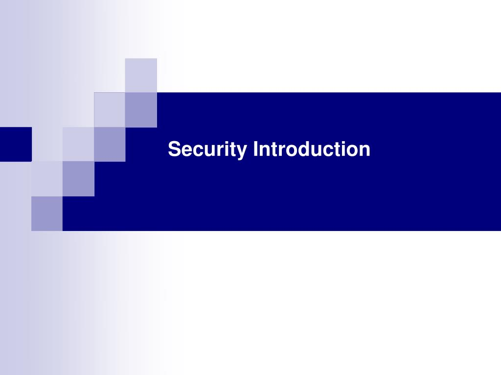 security introduction l.