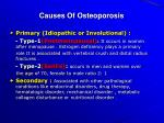 causes of osteoporosis