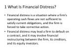 1 what is financial distress