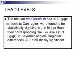 lead levels