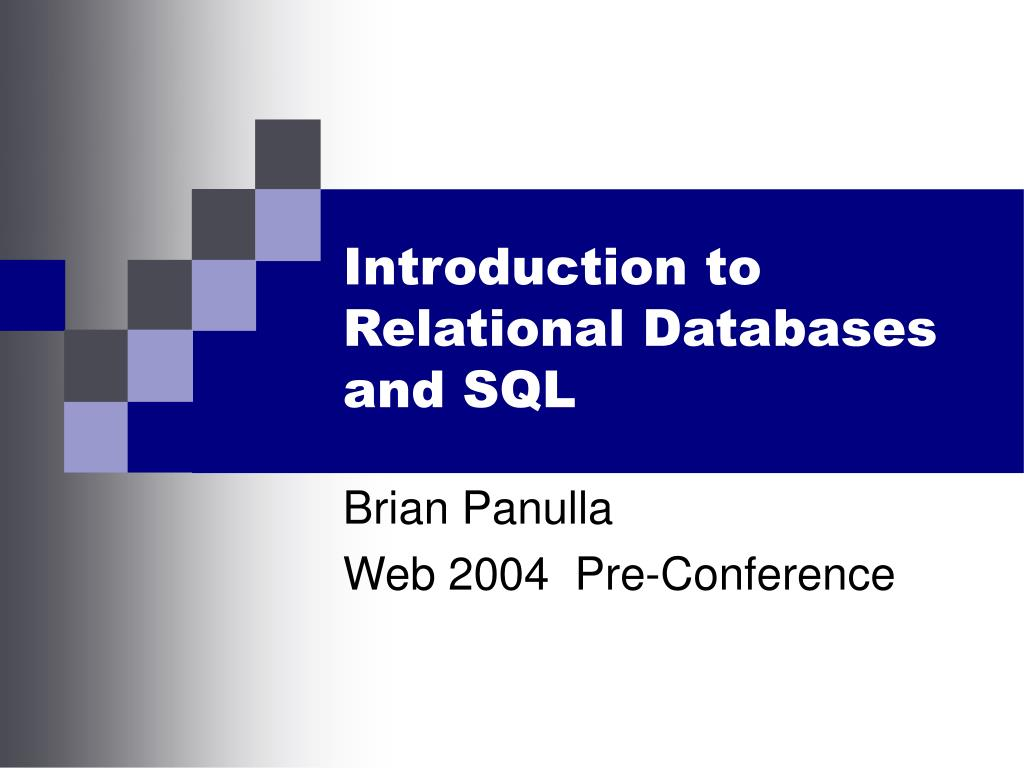 introduction to relational databases and sql l.