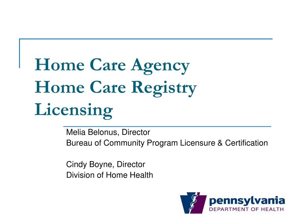 home care agency home care registry licensing l.