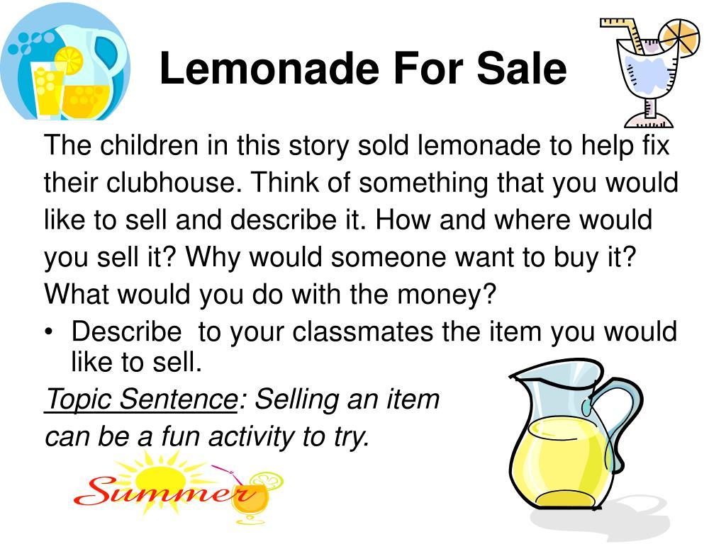 lemonade for sale l.