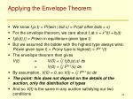 applying the envelope theorem