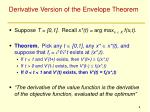 derivative version of the envelope theorem