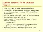 sufficient conditions for the envelope theorem
