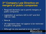 3 rd company law directive on mergers of public companies