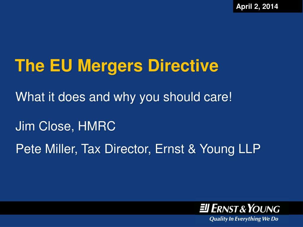 the eu mergers directive l.