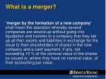 what is a merger6