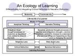 an ecology of learning differentiating integrating critical reflection narrative refraction