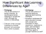 how significant are learning differences by age