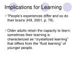 implications for learning26