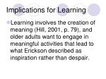 implications for learning28
