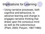 implications for learning34