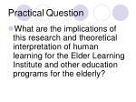 practical question