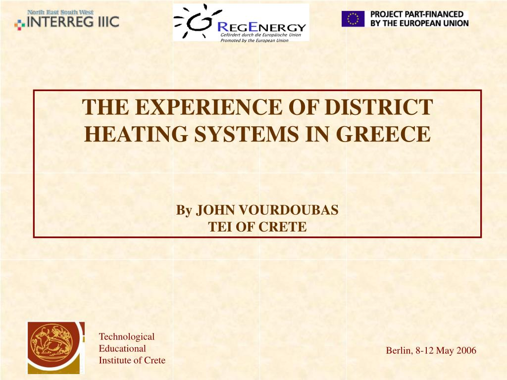 the experience of district heating systems in greece by john vourdoubas tei of crete l.