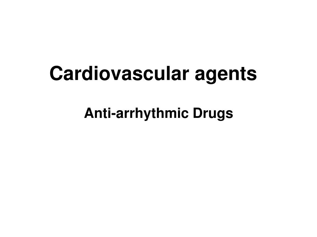 cardiovascular agents l.