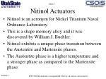 nitinol actuators
