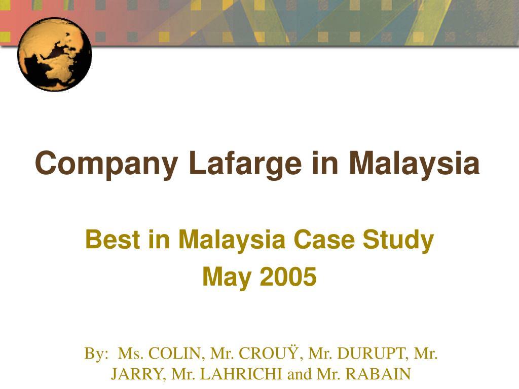 company lafarge in malaysia l.