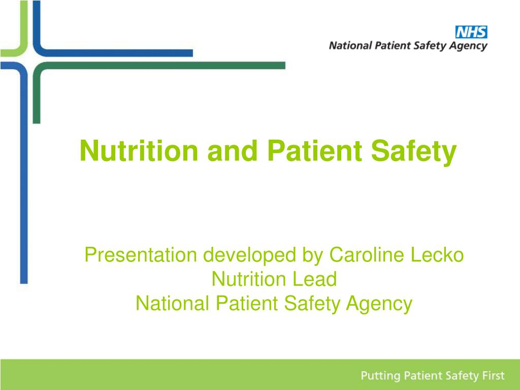 nutrition and patient safety l.