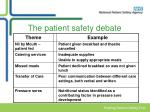 the patient safety debate7