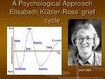 a psychological approach elisabeth k bler ross grief cycle