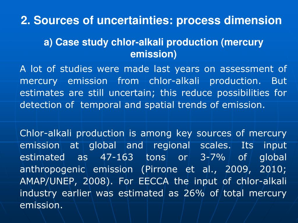 2. Sources of uncertainties: process dimension