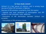 b case study cement