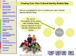 creating your own cultural identity bubble map