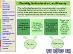 disability multiculturalism and diversity