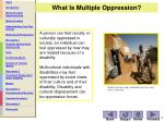 what is multiple oppression