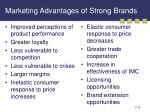marketing advantages of strong brands