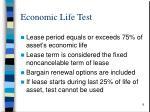 economic life test