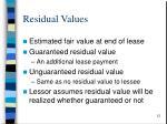 residual values