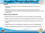 normativo normas y regulaciones