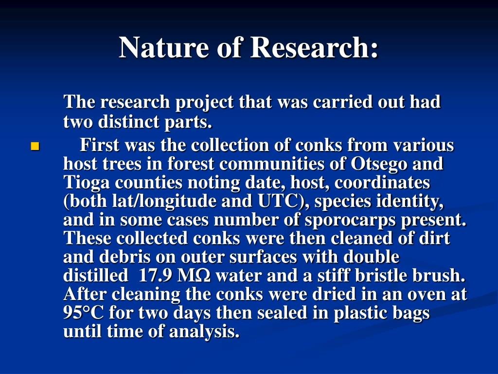 Nature of Research: