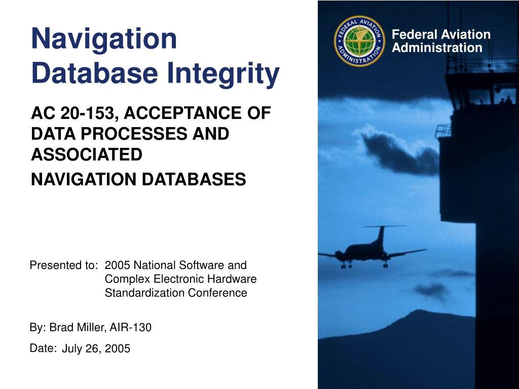 navigation database integrity l.