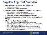 supplier approval overview