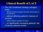 clinical benefit of laci