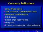 coronary indications
